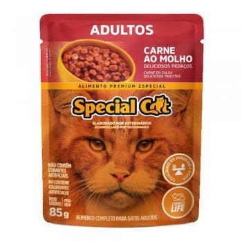 SPECIAL CAT SACHÊ ADULTOS CARNE AO MOLHO  85 GR