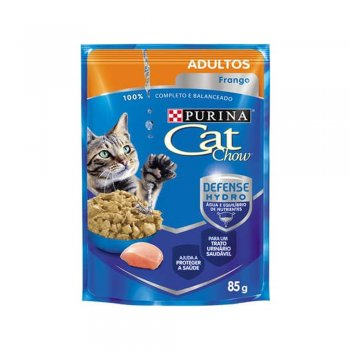 PURINA CAT CHOW SACHÊ ADULTOS SABOR FRANGO 85 GR