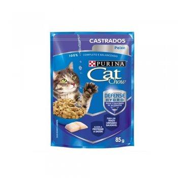 PURINA CAT CHOW SACHÊ CASTRADOS SABOR PEIXE 85 GR