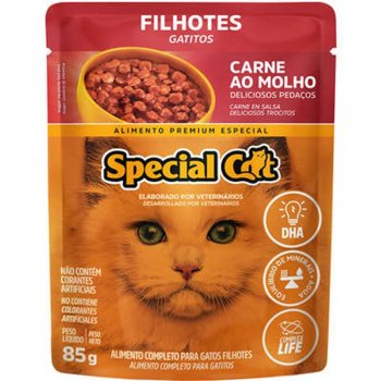 SPECIAL CAT SACHÊ FILHOTES SABOR CARNE AO MOLHO 85 GR