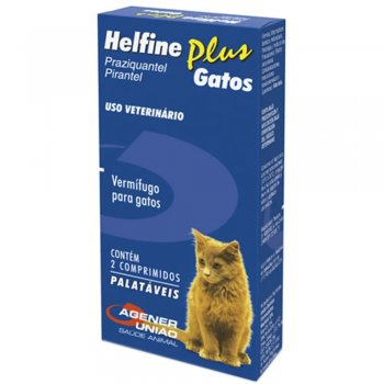 VERMICIDA HELFINE PLUS GATOS 2 COMPRIMIDOS