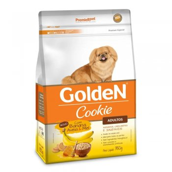 GOLDEN COOKIE CÃES ADULTOS BANANA, AVEIA E MEL 350 GR