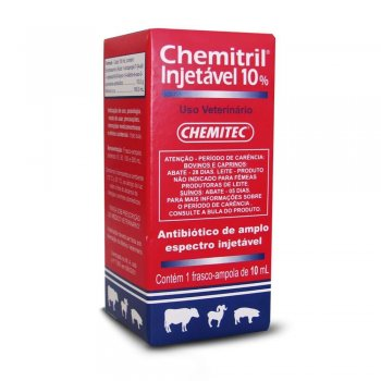 CHEMITRIL INJETÁVEL 10% 10 ML