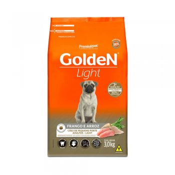 RAÇÃO PREMIER GOLDEN MINI LIGHT FRANGO E ARROZ 3 KG