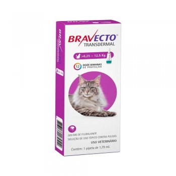 ANTI PULGAS BRAVECTO TRANSDERMAL GATOS 500 MG 6,25-12,5 KG
