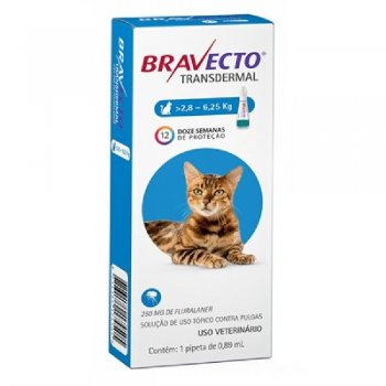 ANTI PULGAS BRAVECTO TRANSDERMAL GATOS 250 MG 2,8-6,25 KG