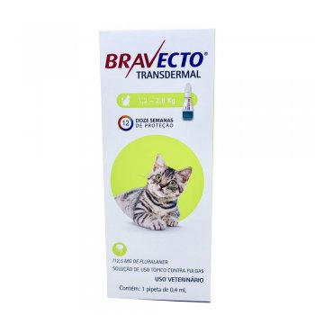 ANTI PULGAS BRAVECTO TRANSDERMAL GATOS 112,5 MG 1,2-2,8 KG