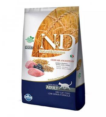 RAÇÃO FARMINA N&D GATOS ADULTOS ANCESTRAL GRAIN CORDEIRO 1,5 KG