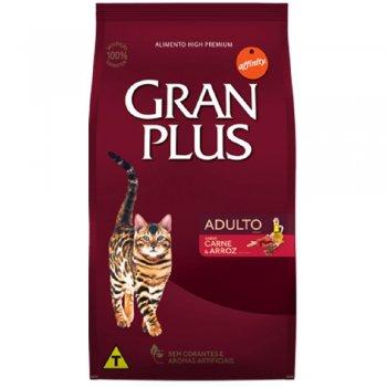 RAÇÃO GRAN PLUS GATOS CARNE E ARROZ 3 KG
