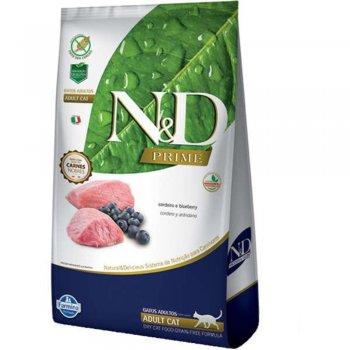 RAÇÃO FARMINA N&D FELINE PRIME CORDEIRO & BLUEBERRY 1,5 KG