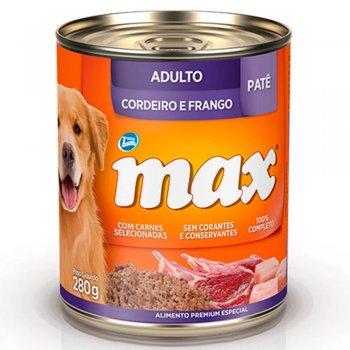 RAÇÃO MAX CÃES WET ADULTO CORDEIRO & FRANGO 280 G