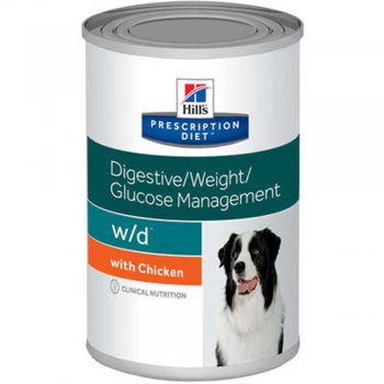 RAÇÃO HILLS CANINE PRESCRIPTION DIET W/D LATA 370 GR