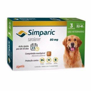 ANTIPULGAS SIMPARIC 20,1-40 KG 3 COMPRIMIDOS