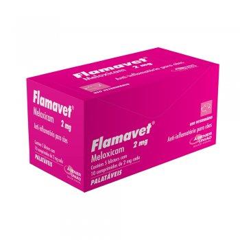 ANTI-INFLAMATÓRIO FLAMAVET 2 MG 10 COMPRIMIDOS