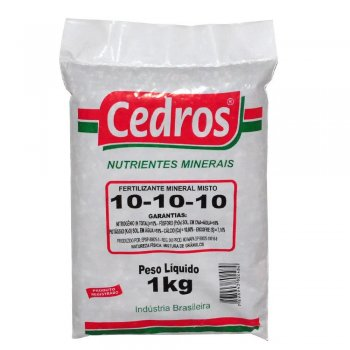 FERTILIZANTE MINERAL ADUBO GRANULADO 10-10-10 CEDROS 1 KG