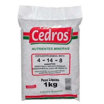 FERTILIZANTE MINERAL ADUBO GRANULADO 4-14-8 CEDROS 1 KG
