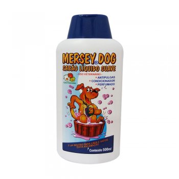 SHAMPOO MERSEY DOG ANTI PULGAS 500 ML
