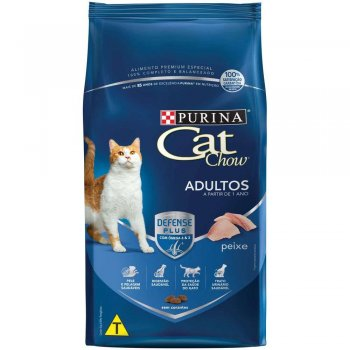 RAÇÃO PURINA CAT CHOW ADULTOS PEIXE 10 KG