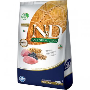 RAÇÃO FARMINA N&D FELINE ANCESTRAL ADULTOS CORDEIRO 7,5 KG