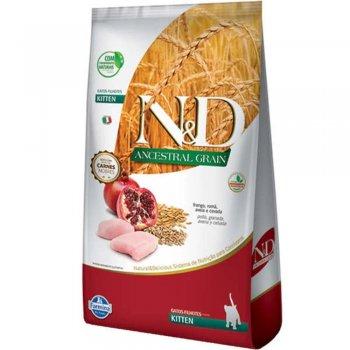 RAÇÃO FARMINA N&D FELINE ANCESTRAL KITTEN FRANGO 7,5 KG
