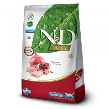 RAÇÃO FARMINA N&D FELINE PRIME CASTRADOS FRANGO 1,5 KG