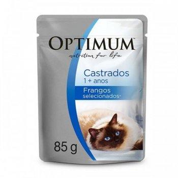 RAÇÃO OPTIMUM CAT ADULTOS CASTRADOS FRANGOS SELECIONADOS 85 GR