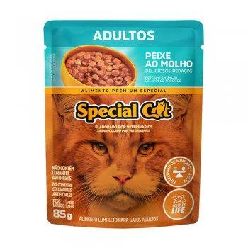 RAÇÃO SPECIAL CAT SACHÊ ADULTO PEIXE AO MOLHO 85 GR
