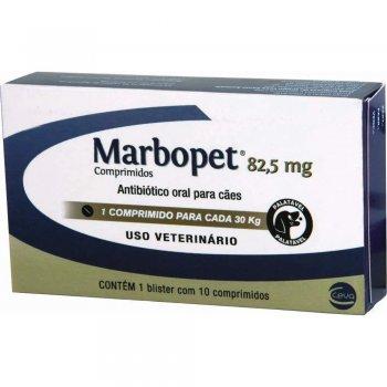 ANTIBIÓTICO MARBOPET 82,5 MG 10 COMPRIMIDOS