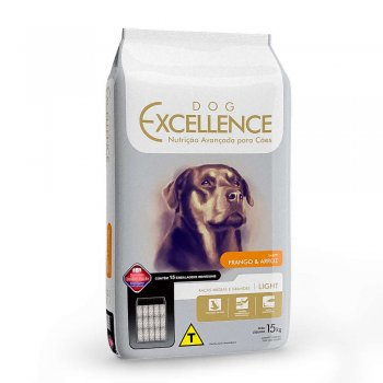 RAÇÃO DOG EXCELLENCE CÃES ADULTOS LIGHT FRANGO & ARROZ 15 KG