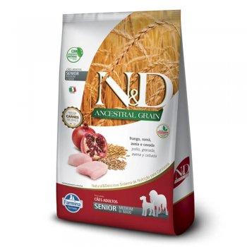 RAÇÃO FARMINA N&D ANCESTRAL GRAIN CÃES FRANGO SENIOR MEDIUM 2,5 KG