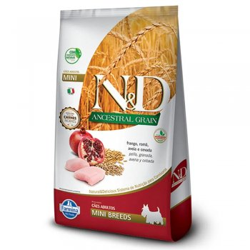 RAÇÃO FARMINA N&D ANCESTRAL GRAIN CÃES FRANGO MINI BREEDS 2,5 KG