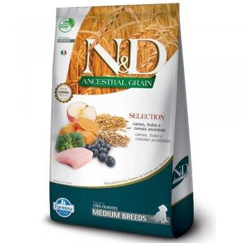 RAÇÃO FARMINA N&D ANCESTRAL GRAIN CÃES PUPPY MEDIUM FRANGO 15 KG