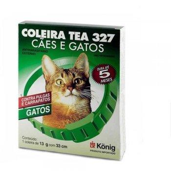 COLEIRA ANTIPULGAS TEA GATOS 13 GR 33 CM