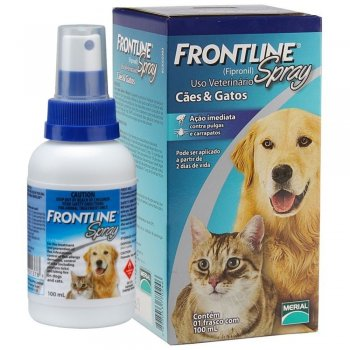ANTIPULGAS E CARRAPATOS FRONTLINE SPRAY 100 ML