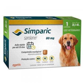 ANTIPULGAS SIMPARIC 20,1-40 KG 1 COMPRIMIDO