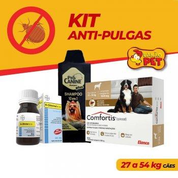 KIT ANTI PULGAS COMFORTIS 27 A 54 KG + SHAMPOO PRÓ CANINE 700 ML + K-OTHRINE 30 ML