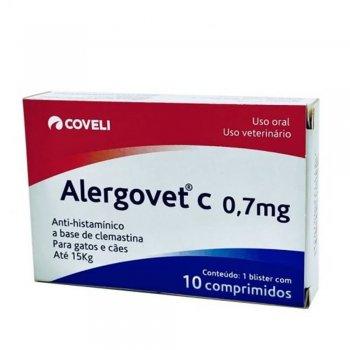 ALERGOVET C 0,7 MG CAIXA COM 10 COMPRIMIDOS