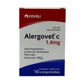 ALERGOVET C 1.4 MG CAIXA COM 10 COMPRIMIDOS