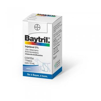 BAYTRIL INJETÁVEL 5% 10 ML