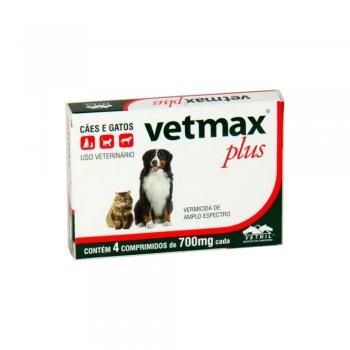 VETMAX PLUS COM 4 COMPRIMIDOS