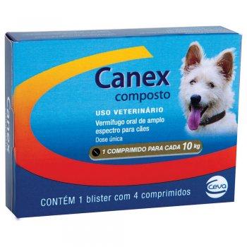 CANEX COMPOSTO COM 4 COMPRIMIDOS