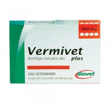 VERMIVET PLUS 10 KG COM 4 COMPRIMIDOS