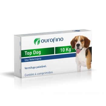 TOP DOG OUROFINO 10 KG CX COM 4 COMPRIMIDO