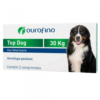 TOP DOG OUROFINO 30 KG CX COM 2 COMPRIMIDOS