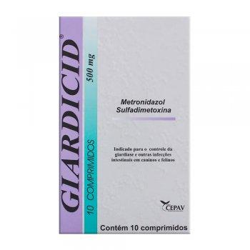 GIARDICID 500 MG COM 10 COMPRIMIDOS