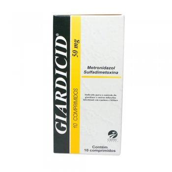 GIARDICID 50 MG COM 10 COMPRIMIDOS