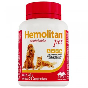 HEMOLITAN PET  30 COMPRIMIDOS