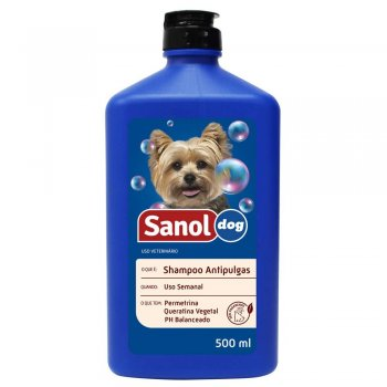 SANOL DOG SHAMPOO ANTIPULGAS 500 ML